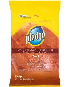 Pledge Wood Floor & Furniture Wipes 8 x 12pk