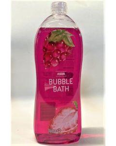 Asda Red Bubble Bath 6x1L