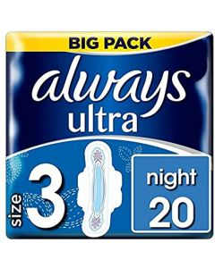 Always Ultra Night with Wings 8 x 20pk