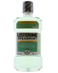 Listerine Spearmint Mouthwash 6 x 600ml