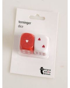 Tiger Two Dice with Hearts 48pk