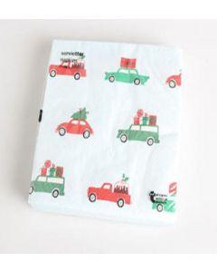 Tiger Christmas Paper Napkins Car Design 36 x 20pk