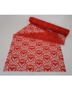 Tiger Red & White Lace Fabric 24pk