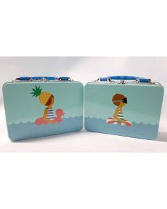 Tiger Beach Themed Tin Lunch Boxes  24pk