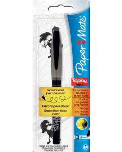 Papermate Replay Max Erasable Ball Pen Black 12pk