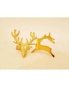 Dunelm Stag & Deer Napkin Rings 20pk