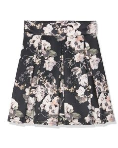 Boohoo Petite Carly Box Pleat Skirt UK8