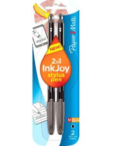 Papermate Inkjoy Stylus Pen Black 12 x 2pk