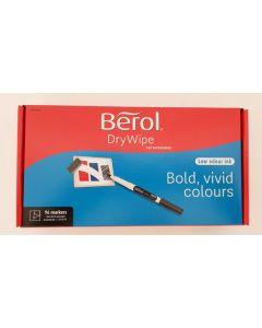 Berol Dry Wipe Fine Tip Whiteboard Markers 3x96pk