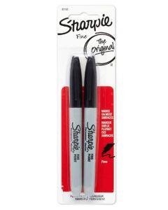 Sharpie Fine Permanent Markers Black 12x2pk