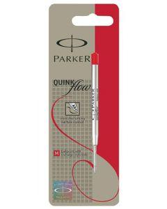 Parker Quink Flow Ballpoint Pen Refill Red