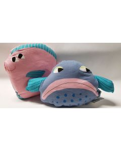 Tiger Cuddly Cushion Fish Design 12pk