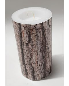 Tiger Wooden Look Candle 12pk