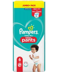Pampers Baby Dry Nappy Pants Size 6 52pk