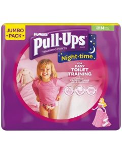 Huggies Pull Up Night Pant Girl M 4x28pk
