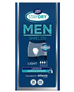 Boots Staydry Men Light Shields One Size 14pk