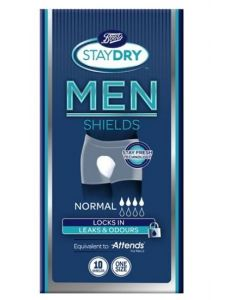 Boots Staydry Men Normal Shields 10pk