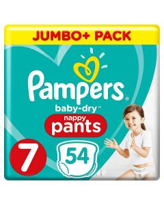 Pampers Baby Dry Nappy Pants Size 7 2x54pk