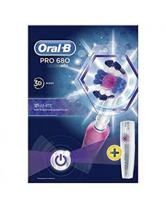 Oral B Pro 680 3D White Toothbrush Pink