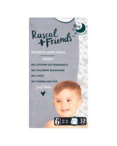 Rascal & Friends Premium Nappy Pants Size 6 2x32pk