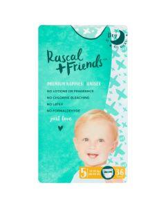Rascal & Friends Premium Nappies Size 5 2x36pk
