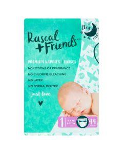 Rascal & Friends Premium Nappies Size 1 2x44pk