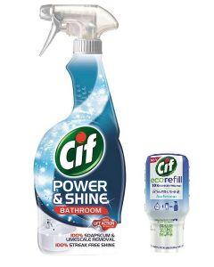 Cif Power & Shine Bathroom 700ml & Eco Refill