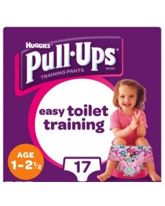 Huggies Pull Ups Training Pant Girl 1-2.5yr 4x17pk