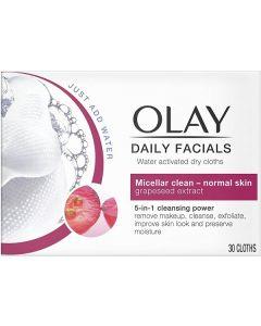 Olay Daily Facials Normal Wipes 6x30pk