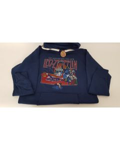 Led Zepplin Hoodie Blue Medium