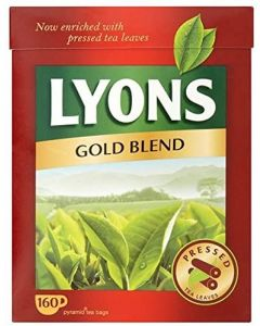 Lyons Gold Blend Tea Bags 8x160pk - SEE BBE