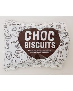 Burtons Misshaped Choc Biscuits 40 x 140g Bags