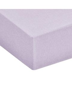 Chambray Fitted Sheet 200×200cm Purple Dusk