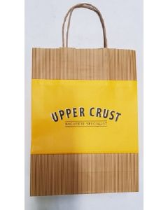 Branded Kraft Bag with Handle Approx 125pk