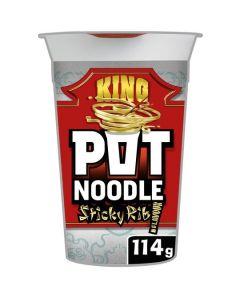 Pot Noodle King Sticky Ribs 12x114g