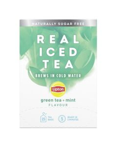 Lipton Cold Brew Green Tea & Mint 5x15pk