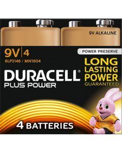 Duracell 9V Plus Power Battery 8 x 4pk