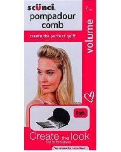 Scunci Pompadour Comb Dark