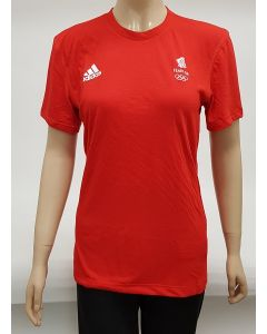 Adidas Team GB Prime T Shirt Red UK 2 XSmall