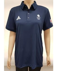 Adidas Team GB Mens Polo Shirt Navy UK 36-38