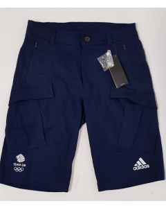 Adidas Team GB Mens Bermuda Shorts Navy UK 26""