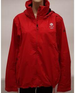 Adidas Team GB Rainproof Jacket Red UK 38-40