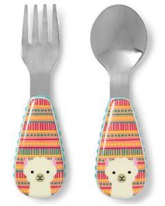Skip Hop Zootensils Fork & Spoon Set Llama 4pk