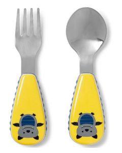 Skip Hop Zootensils Fork & Spoon Set Bat 4pk