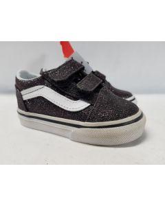 Vans Kids Old Skool V Glitter Stars Black/Whi EU19