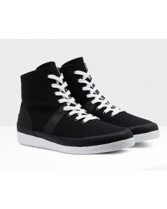 Hunter Ladies Original Sneaker Hi Canvas B/W EU38