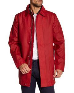 Hunter Men's Rubberised Raincoat Red S