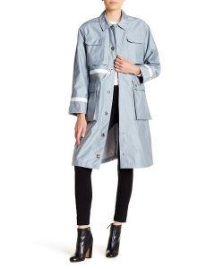 Hunter Ladies Refin Garden Trench Coat Blue Mist S