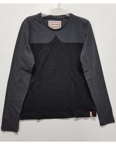 Hunter Ladies Long Sleeve Tee Grey/Black S