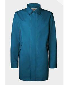 Hunter Men's Rubberised Raincoat Ocean Blue M